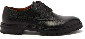 Lanvin Pebbled Leather Derby Shoes - Mens - Black
