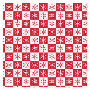 Christmas Snowflakes Self-Launch Wrapping Paper