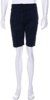 Kenzo Abstract Print Knit Shorts black Abstract Print Knit Shorts