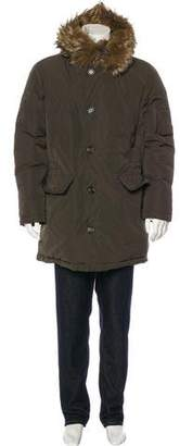 Moncler Grandalpe Fur-Trimmed Down Parka