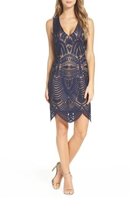 Women's Bardot Embroidered Mesh Dress $139 thestylecure.com