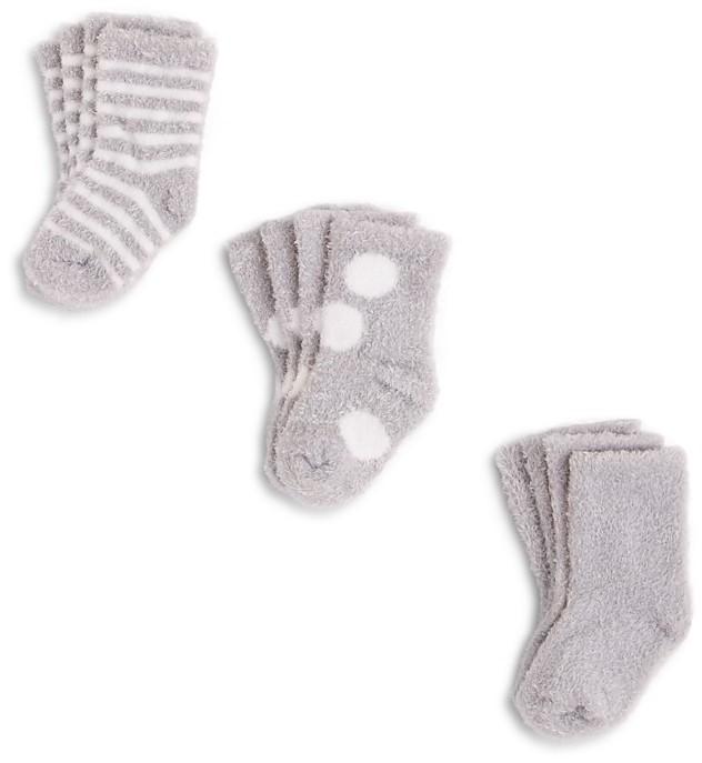 Little Giraffe Infant Unisex Socks Box Set, 6 Pairs - Sizes 0-12 Months