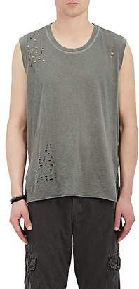 NSF Men's Distressed Cotton Muscle Tank