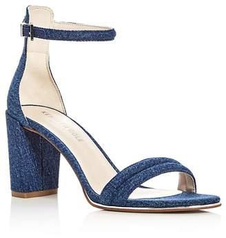 Kenneth Cole Lex Denim Block Heel Sandals $130 thestylecure.com