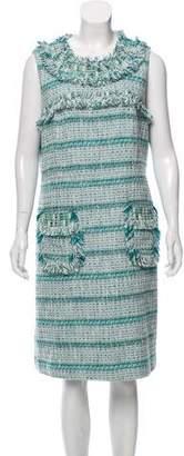 Tory Burch Tweed Embellished Dress
