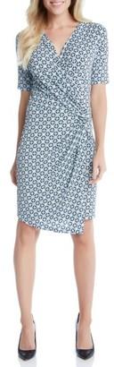 Women's Karen Kane Print Faux Wrap Dress $128 thestylecure.com