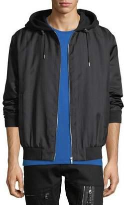 McQ Men's Hooded Zip-Front Anorak Jacket