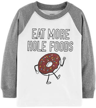 Carter's Long Sleeve Graphic Slub - Toddler Boys Graphic T-Shirt-Toddler Boys