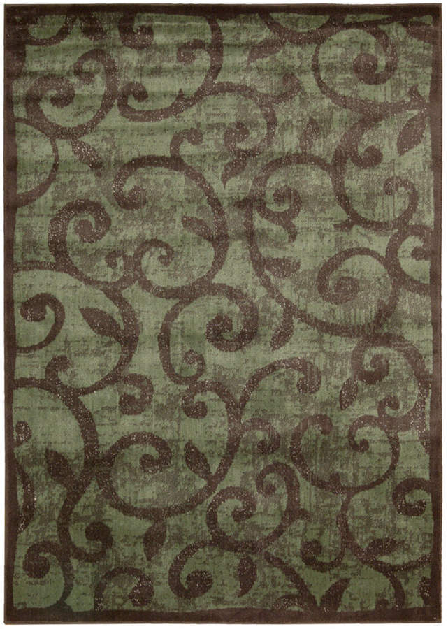 """Nourison Closeout! Area Rug, Expressions XP02 Brown 2' 3"""" x 8' Runner Rug"""