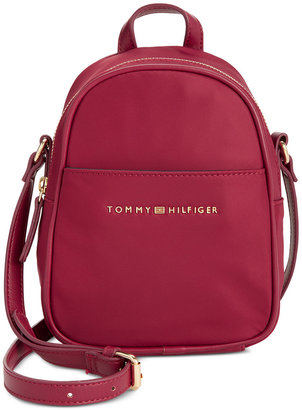 Tommy Hilfiger Juliette Nylon Mini Backpack Crossbody $88 thestylecure.com