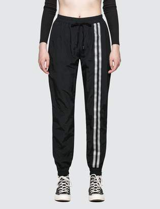 Danielle Guizio Nylon Trackpants Silver Single Font