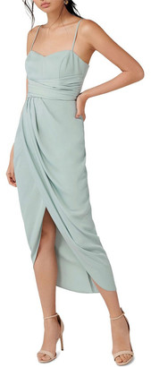 Forever New Whitney Sweetheart Drape Maxi Dress