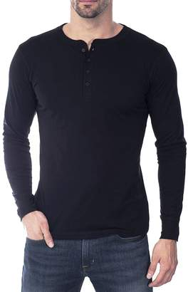 Stylish&Young Men's Basic Casual Slim Fit 4-Button Collar Long Sleeve T-Shirt Tee Tops (M, )