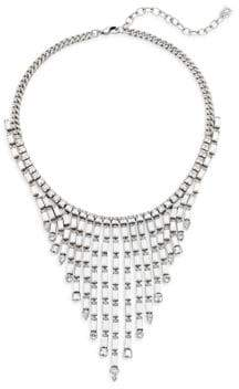 Dannijo Hallsy Crystal Fringe Bib Necklace