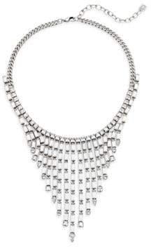 Dannijo Hallsy Crystal Fringe Bib Necklace