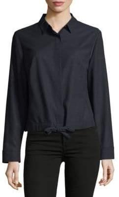 Akris Tie Front Wool Jacket