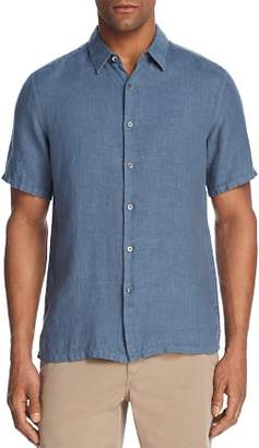 Theory Irving Summer Linen Short-Sleeve Regular Fit Shirt