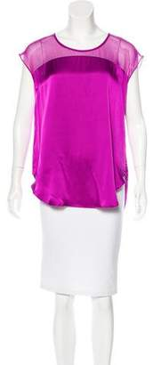 Elizabeth and James Silk Scoop Neck Top
