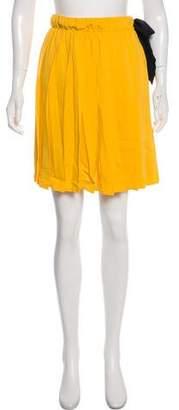 Miu Miu 2016 Pleated Chiffon Skirt