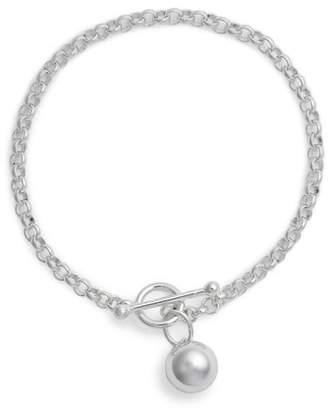 Argentovivo Sphere Charm Link Bracelet