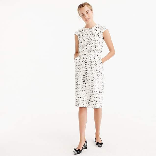 Going-places dress in dalmatian tweed