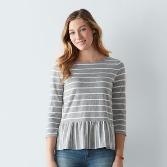 Women's SONOMA Goods for LifeTM Striped Peplum Top