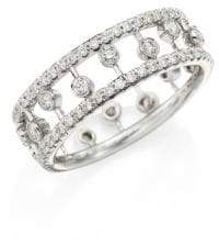 De Beers Dewdrop Diamond& 18K White Gold Ring