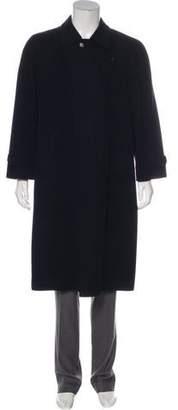 Barneys New York Barney's New York Wool Button-Up Overcoat