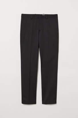 H&M Wool-blend Suit Pants - Black