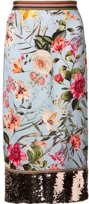 Sachin + Babi Reeza floral skirt