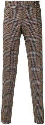 Etro Herringbone tailored trousers