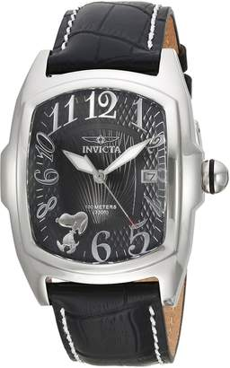 Invicta Men's 'Character Collection' Quartz Stainless Steel and Leather Casual Watch, Color: (Model: 25024)