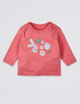 Marks and Spencer Pure Cotton Bunny Applique Top