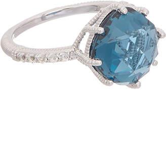 Judith Ripka Silver 7.67 Ct. Tw. White Topaz Ring