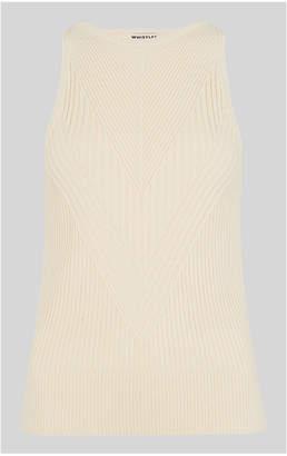Whistles Fashion Detail Knit Tank Top