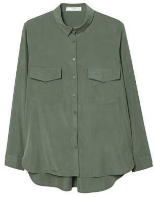MANGO Decorative pocketed shirt