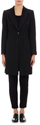 Giorgio Armani Women's Brushed Cashmere Melton Coat-BLACK $7,045 thestylecure.com