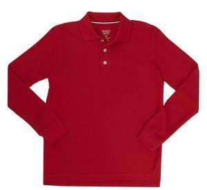 French Toast Boy's Long-Sleeve Pique Polo