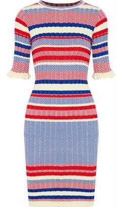 Raoul Ribbed Jacquard-Knit Cotton Dress
