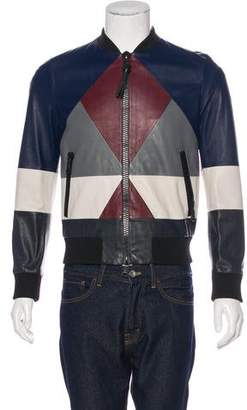 Valentino Colorblock Leather Jacket