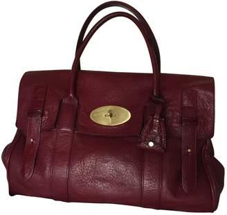 Mulberry Bordeaux Leather Handbag