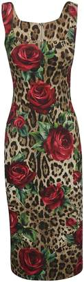 Dolce & Gabbana Leopard And Floral Print Dress