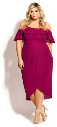 City Chic Flirtation Dress - rosebud
