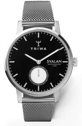 Triwa Ebony Svalan Mesh Strap Watch, 34mm