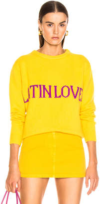 Alberta Ferretti Latin Lover Sweater in Yellow | FWRD