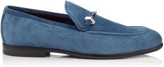 Jimmy Choo MARTI Ocean Fine Suede Loafers