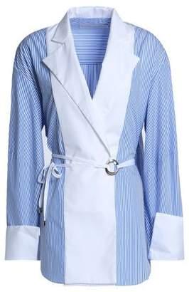 Michael Lo Sordo Striped Cotton-panel Shirt