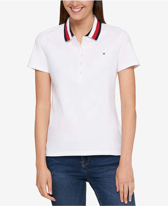 Tommy Hilfiger Striped-Collar Polo Top, Created for Macy's