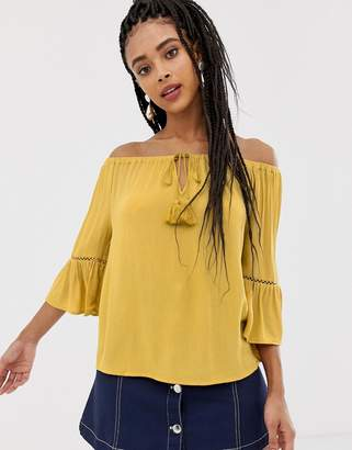 New Look Tassel Bardot Top