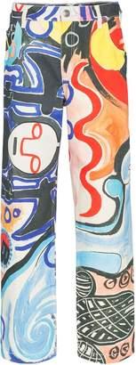 Charles Jeffrey Loverboy straight leg art print jeans